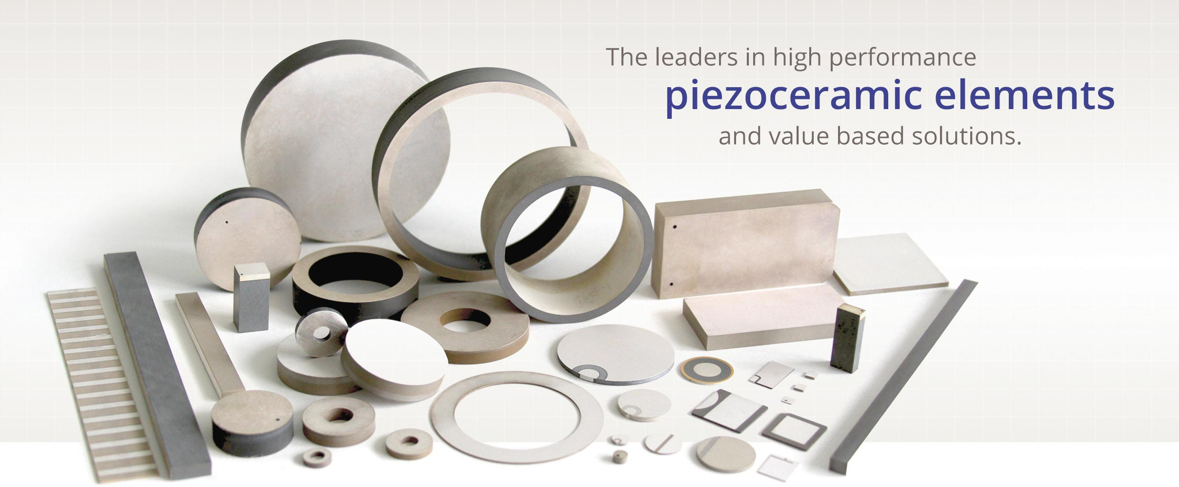 the leaders in piezoceramic elements