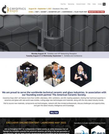 Ceramics Expo Website